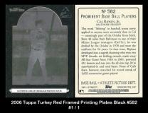 2006 Topps Turkey Red Framed Printing Plates Black #582
