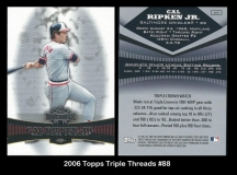 2006 Topps Triple Threads #88