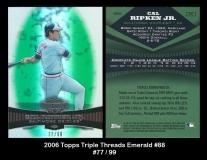 2006 Topps Triple Threads Emerald #88
