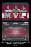 2006 Topps Triple Threads Relic Combos #180