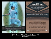 2006 Topps Triple Threads Sepia #88