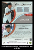 2006 Ultimate Collection Game Materials #RC