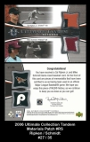 2006 Ultimate Collection Tandem Materials Patch #RS