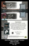 2006 Ultimate Collection Tandem Materials #RS