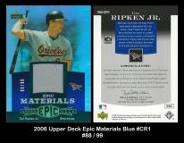 2006 Upper Deck Epic Materials Blue #CR1
