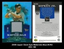 2006 Upper Deck Epic Materials Blue #CR2