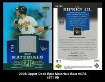 2006 Upper Deck Epic Materials Blue #CR3
