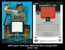 2006 Upper Deck Epic Materials Dark Orange #CR1