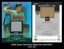 2006 Upper Deck Epic Materials Gold #CR1