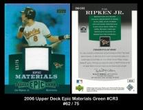 2006 Upper Deck Epic Materials Green #CR3