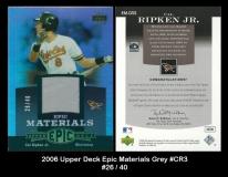 2006 Upper Deck Epic Materials Grey #CR3