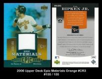 2006 Upper Deck Epic Materials Orange #CR3