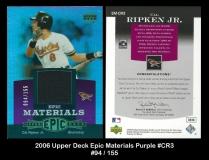 2006 Upper Deck Epic Materials Purple #CR3