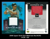 2006 Upper Deck Epic Materials Red #CR2