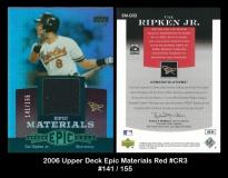 2006 Upper Deck Epic Materials Red #CR3