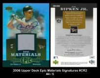 2006 Upper Deck Epic Materials Signatures #CR2