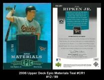 2006 Upper Deck Epic Materials Teal #CR1
