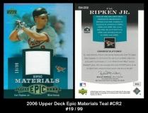2006 Upper Deck Epic Materials Teal #CR2