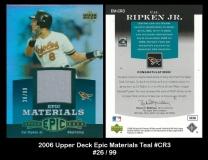 2006 Upper Deck Epic Materials Teal #CR3