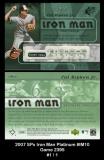 2007 SPx Iron Man Platinum #IM10 Game 2395