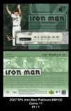 2007 SPx Iron Man Platinum #IM100 Game 11