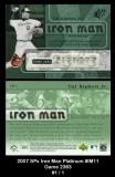 2007 SPx Iron Man Platinum #IM11 Game 2363