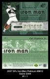 2007 SPx Iron Man Platinum #IM12 Game 2344