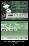 2007 SPx Iron Man Platinum #IM13 Game 2298