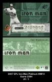2007 SPx Iron Man Platinum #IM14 Game 2294