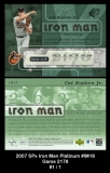 2007 SPx Iron Man Platinum #IM18 Game 2178
