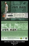 2007 SPx Iron Man Platinum #IM20 Game 2127