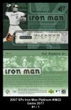 2007 SPx Iron Man Platinum #IM22 Game 2077