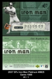 2007 SPx Iron Man Platinum #IM25 Game 1986