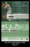 2007 SPx Iron Man Platinum #IM27 Game 1932