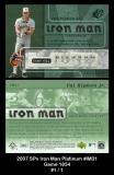 2007 SPx Iron Man Platinum #IM31 Game 1834