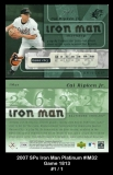 2007 SPx Iron Man Platinum #IM32 Game 1813