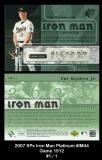 2007 SPx Iron Man Platinum #IM44 Game 1512