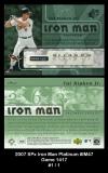 2007 SPx Iron Man Platinum #IM47 Game 1417