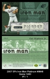 2007 SPx Iron Man Platinum #IM48 Game 1400