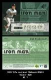 2007 SPx Iron Man Platinum #IM51 Game 1328