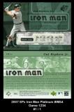 2007 SPx Iron Man Platinum #IM54 Game 1234