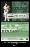 2007 SPx Iron Man Platinum #IM55 Game 1209