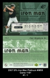2007 SPx Iron Man Platinum #IM56 Game 1191