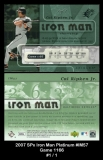 2007 SPx Iron Man Platinum #IM57 Game 1166