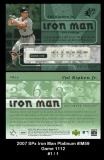 2007 SPx Iron Man Platinum #IM59 Game 1112