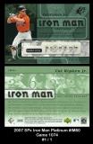 2007 SPx Iron Man Platinum #IM60 Game 1074