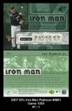 2007 SPx Iron Man Platinum #IM61 Game 1050
