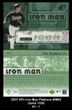 2007 SPx Iron Man Platinum #IM63 Game 1008