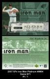 2007 SPx Iron Man Platinum #IM64 Game 971
