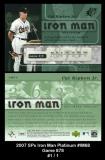2007 SPx Iron Man Platinum #IM68 Game 878